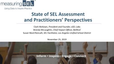 Webinar 11-25-19 State of SEL