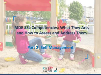 Webinar 3-16-20 SEL Competencies - Self-Management
