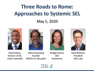 Webinar 5-5-20 Approaches to Systemic SEL