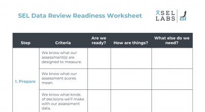 Worksheet - SEL Data Review Readiness